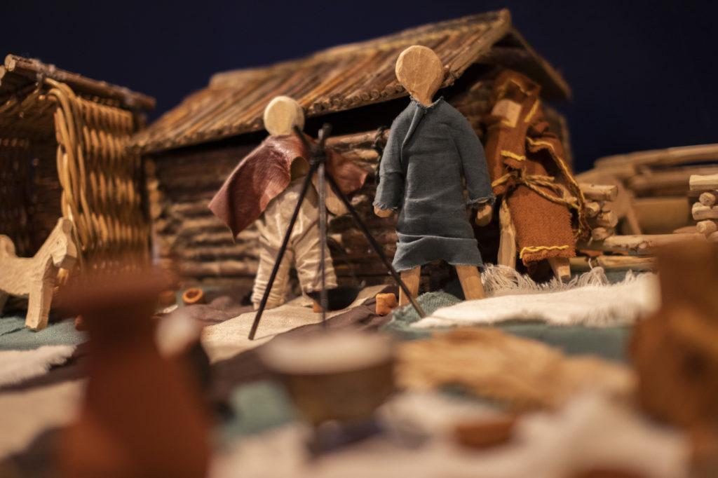 Opastuskeskuksen leikkipaikka, viikinkikylä